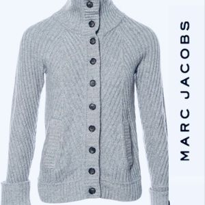 MARC BY MARC JACOBS Wool Gray Cardigan, Sweater.